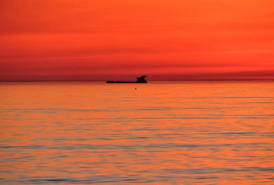 Tanker At Dawn