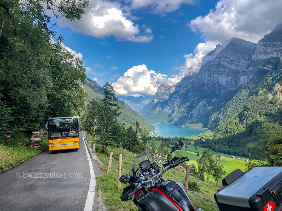 Here I can tell you two stories! One about the Klöntalersee and the other one about our coach-co...