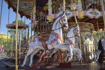 The Carousel Horses In Skanderbeg Square