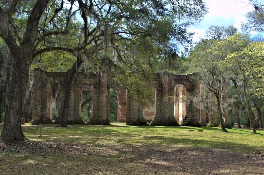 Destroyed during the American Revolution. Near Beaufort South Carolina