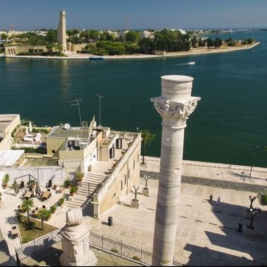 Hight view of Brindisi and its port beauty