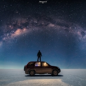Milky Way above Salar de Uyuni, Bolivia, South America
