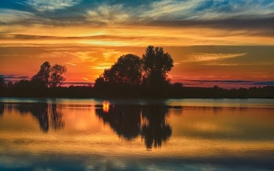 HDR Sunset Landscape