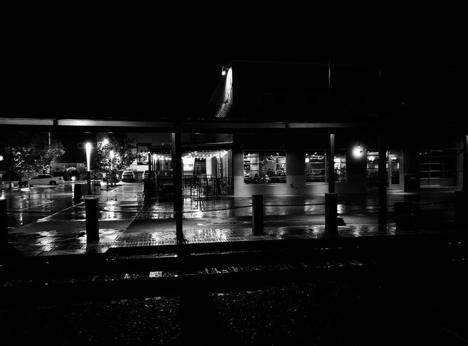 Rainy night in the railyard
