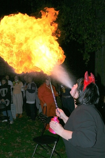 Shes a flame thrower,yeah