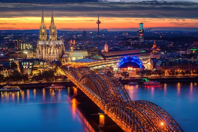 Sunset over Cologne  by StefanLueger - Bright City Lights Photo Contest