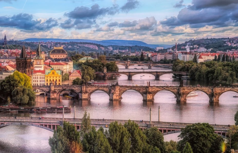 Prague is a big favourite of mine and this shot of some of its many bridges is one I would like t...
