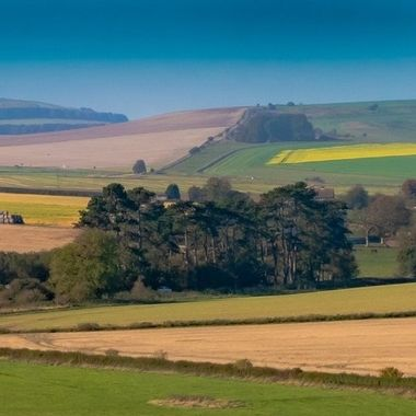 Peaceful view near Avebury Stone Circle, Wilts, UK