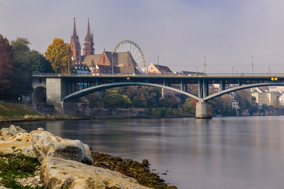 Münster in Basel with ferris wheel, my beloved city  Canon 550D