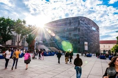 Cloudy sunrays, Museumsquartier, Mumok, Vienna.