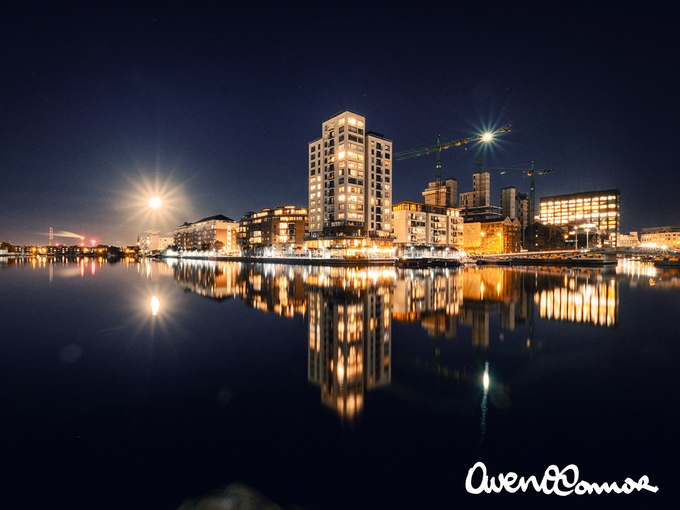 Grand Canal Dock by owenoconnor - Bright City Lights Photo Contest