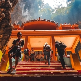 Batu Caves is a limestone hill that has a series of caves and cave temples in Gombak, Selangor, Malaysia. It takes its name from the Sungai Batu,...