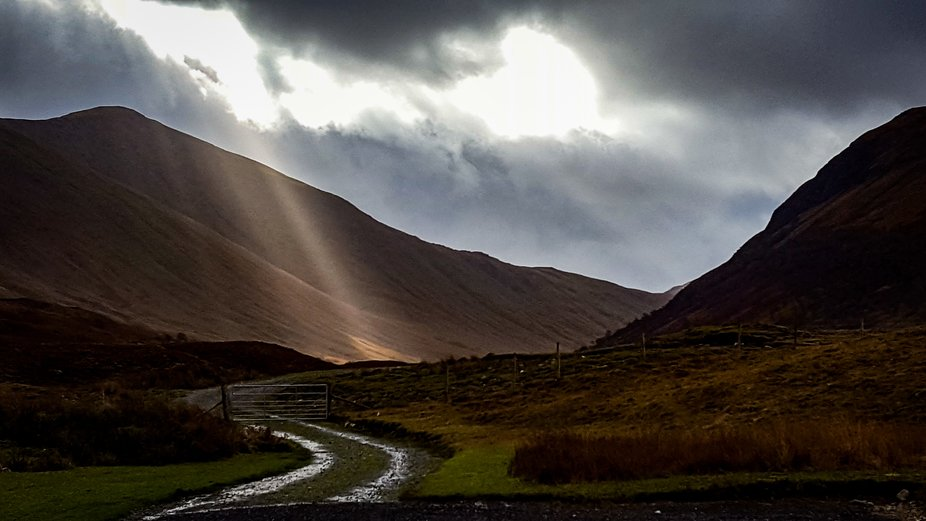 The road to Loch Ba, Isle of Mull, Scotland. Taken with an old phone at the highest resolution po...
