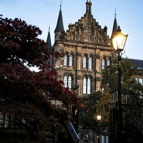 This shot was taken behind the Glasgow University at dusk.Such a beautiful and inspiring spot.