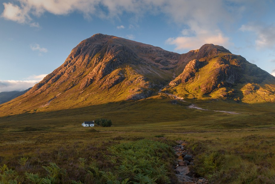This cottage sits in the truly epic landscape of the western highlands of Scotland in the shadow...