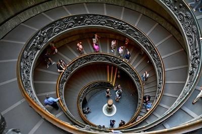 Vatican Stairwell, Rome 2015