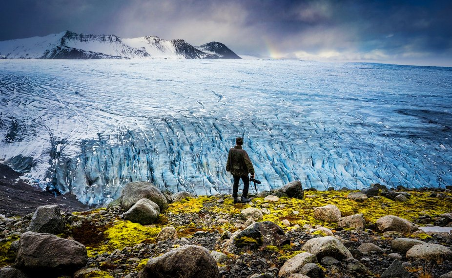 """Everything else is enough.""""  #iceland #glaciers # #peaceofmind"""