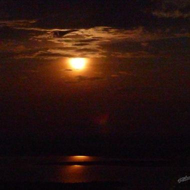 Moon Rise over Lake Ihema, Akagera National Park, Rwanda