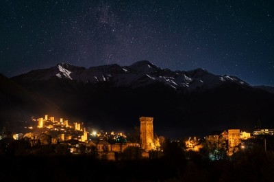 Mestia at night