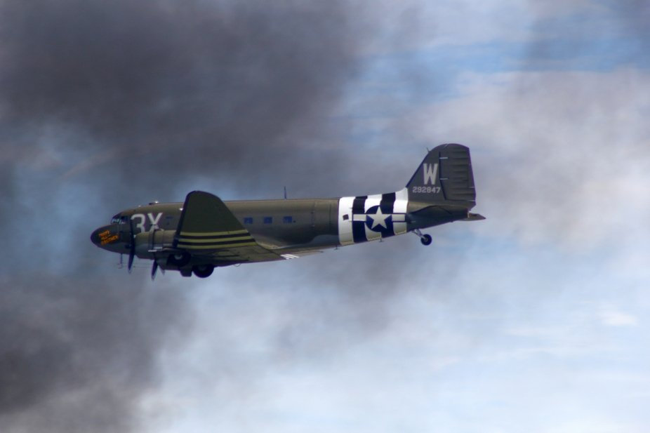 "C-47 fly-by at the 2018 Wings Over Houston airshow.  This is the restored C-47, ""That&am..."