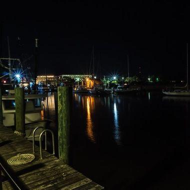 Shrimp boats and sailboats at the docs on Shem Creek in Mount Pleasant, South Carolina