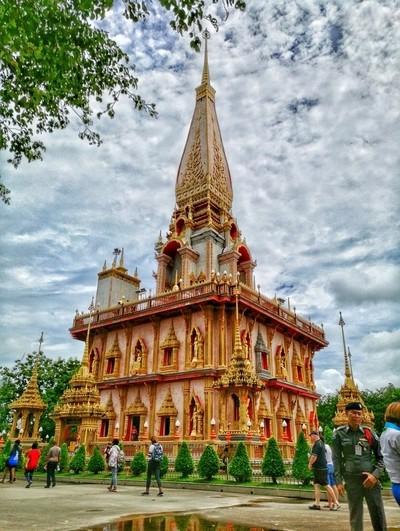 Pagoda at Wat Chalong Temple Phuket