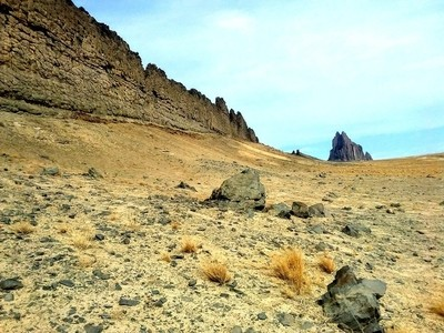 Hiking towards Shiprock!