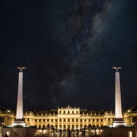 A composite of Schonbrunn at Night
