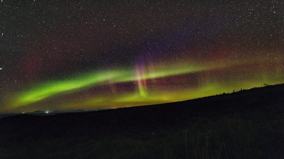 An unexpected northern lights event in Scotland in October '18