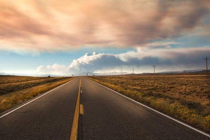 On The Road Again  by kellymarquardt - Straight Roads Photo Contest