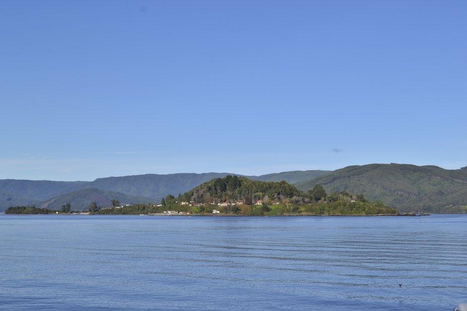 Isla Mancera en la Region de Los Rios, Valdivia.