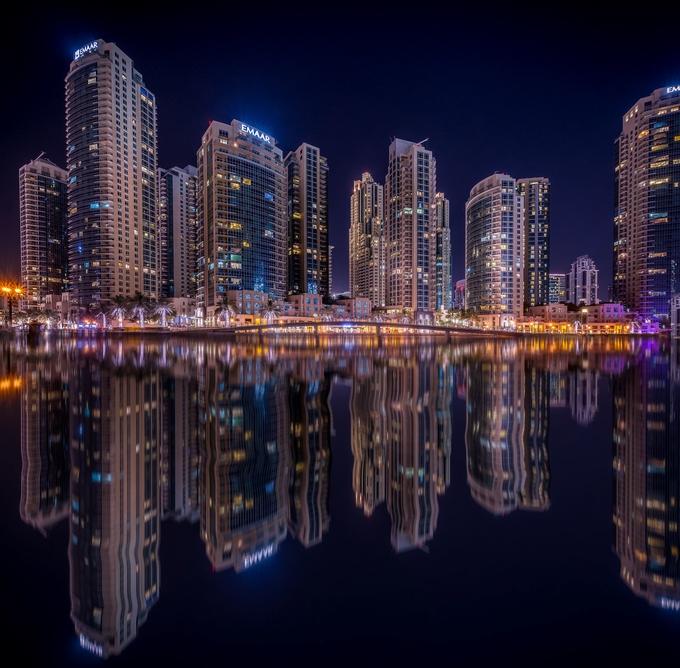 Dubai by night by massimilianoconiglio - Bright City Lights Photo Contest