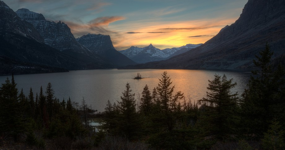 taken 2 days ago. Great time to be in Glacier- no other photographers here! Weather was pleasant ...