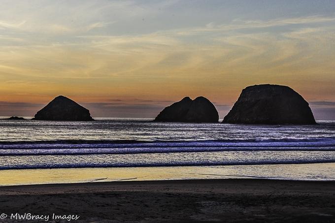 Sunset from Oceanside beach