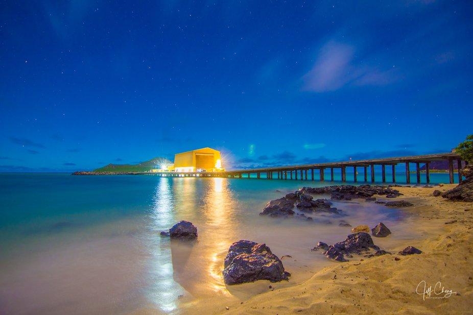 makai pier under the stars by moonlight