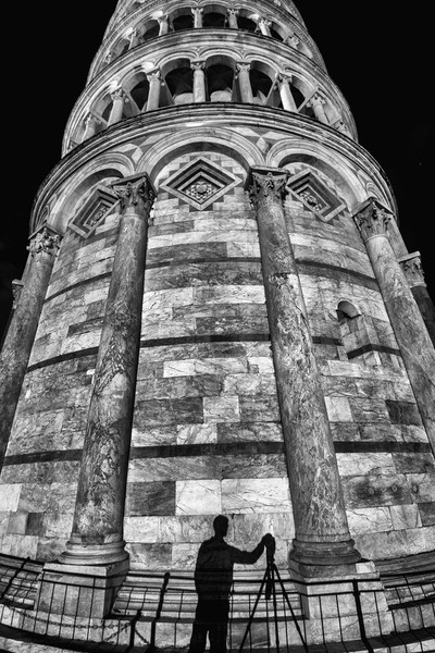 Pisa tower at night