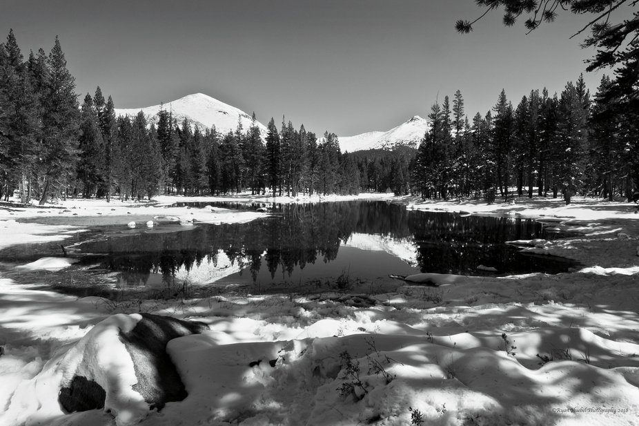 A gorgeous pond tucked away off the beaten path in Yosemite, Ca,  This was just asking to be turn...