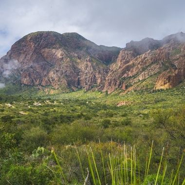 The Chisos Basin area of Big Bend National Park in SW Texas