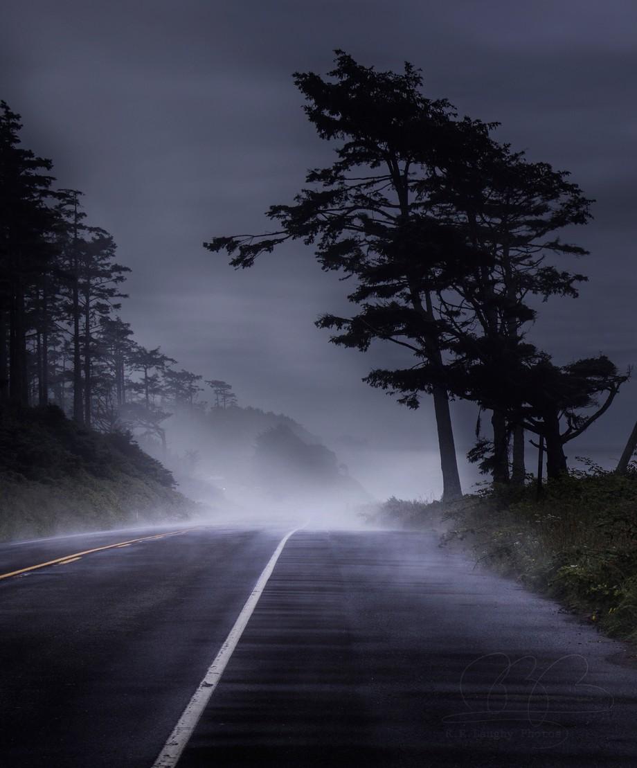 A Foggy Road by Badskwrl - Straight Roads Photo Contest
