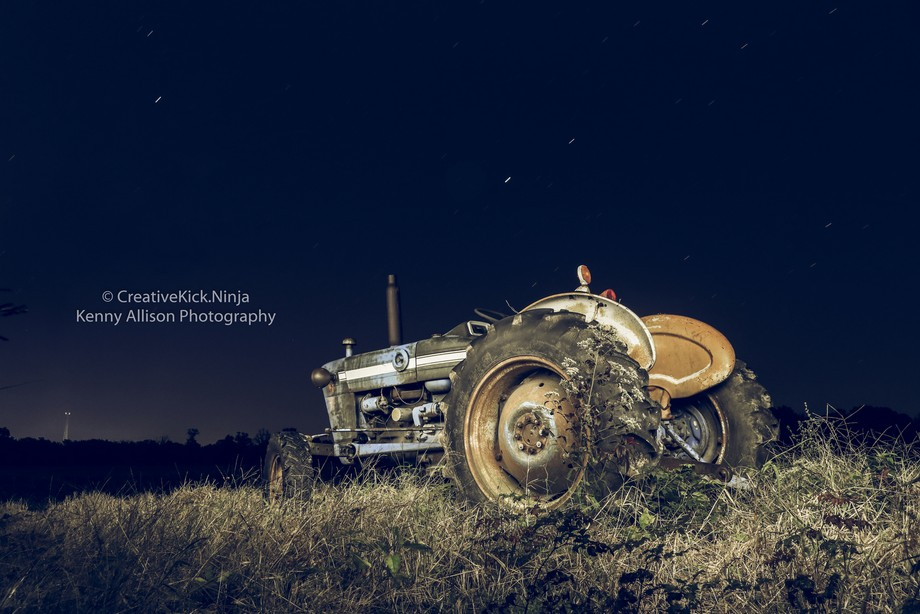 Tractor at Night 2