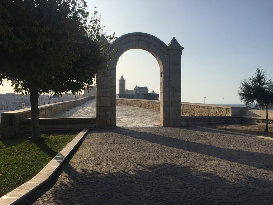 Harbour park gate. Trani, Italy