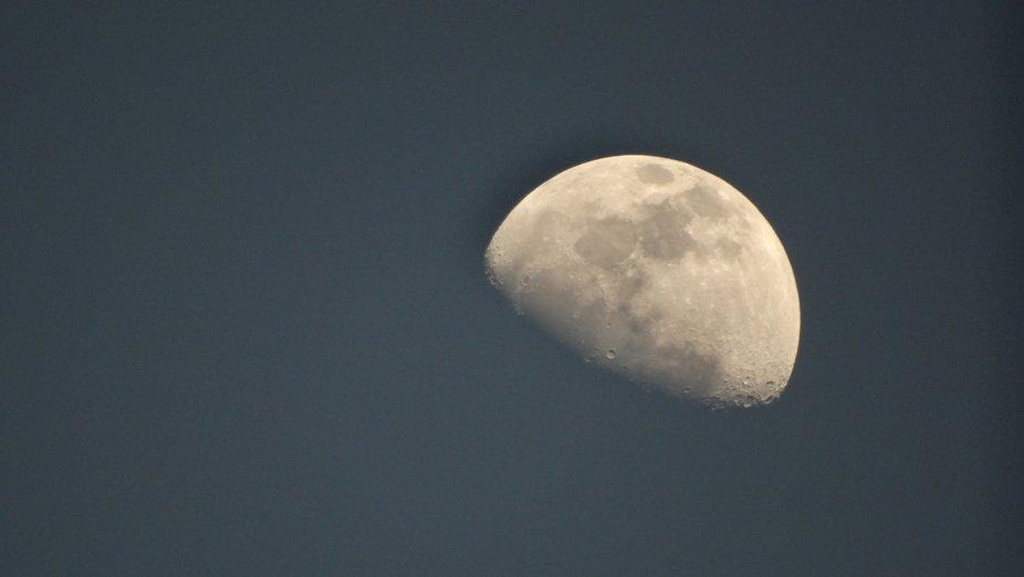 Moon at dusk.