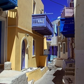 Narrow streets of Mandraki. Nisyros Island, Greece. Photo 03.