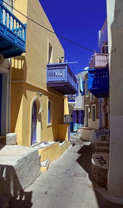 Narrow streets of Mandraki. Nisyros Island, Greece. Photo 03.