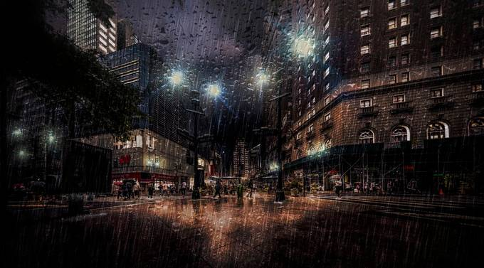 Gotham - Rainy Night by jacksoncarvalho - New York Photo Contest