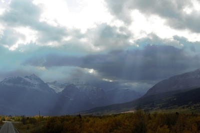 Sunbeams and mountians