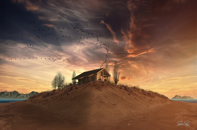 Cabin on the beach by panospapa - Isolated Cabins Photo Contest