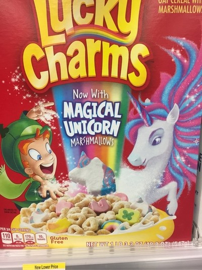 No now Lucky Clarms as Unicorn in it
