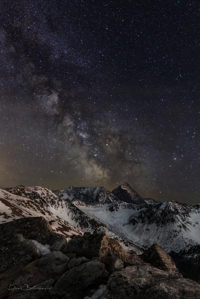 Night in Slovakian mountains