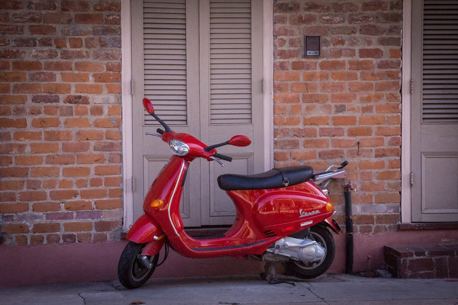 Red Scooter in the French Quarter